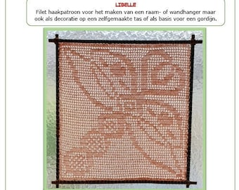 Dragon fly crochet pattern, English