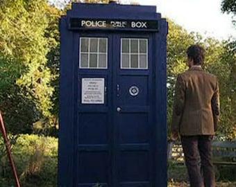 Full sized Doctor Who TARDIS police box digital plans