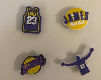 4 Lakers Shoe Charms For Crocs Lebron James Anthony Davis