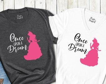 Disney Princess Shirts, Disney Princess Birthday Shirt, Once Upon a Dream Sleeping Beauty Shirt, Disney Vacation Girl Gift, Princess Aurora