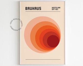 Bauhaus Print Design | Circular Geometric Shape | Exhibition Poster