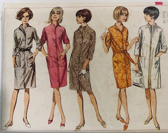 Simplicity 1638 sewing pattern size 12 dress and coat