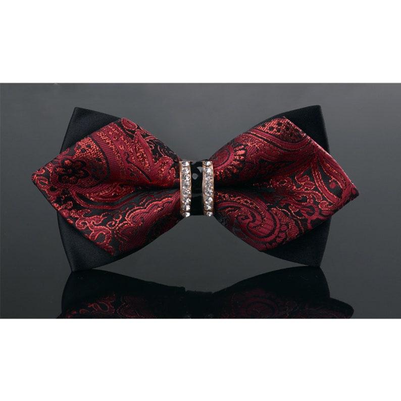 Best Man Ties Accessories Wedding Accessory Bow Ties Red Black Diamond Pointed Corner Bow Ties Men/'s Fashion Bow Ties Vintage Bow Ties