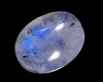 Fancy Shape Designer Gemstone Blue Flashy Moonstone Rainbow Moonstone With Black Tourmaline Cabochon Size 26*15*7mm 28Cts Loose Gemstone