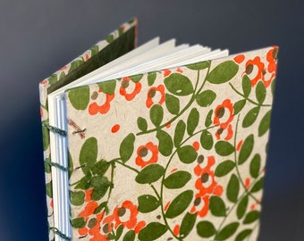 Hand bound Coptic Journal with unique paper. Made To Order
