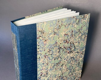 Hand bound XL Longstitch Journal with unique paper. Made To Order