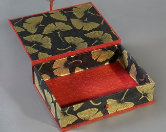 Handmade Large Presentation Box with unique paper. Made To Order