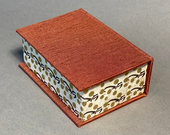Handmade Business Card Box with unique paper. Made To Order