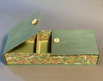 Large Unique Handmade 3 Compartment Jewelry Box. Made To Order