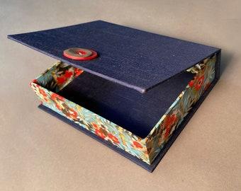 Handmade Medium Presentation Box with unique paper. Made To Order