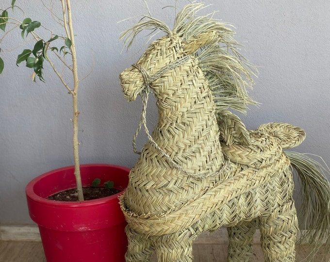 Decorative straw horse