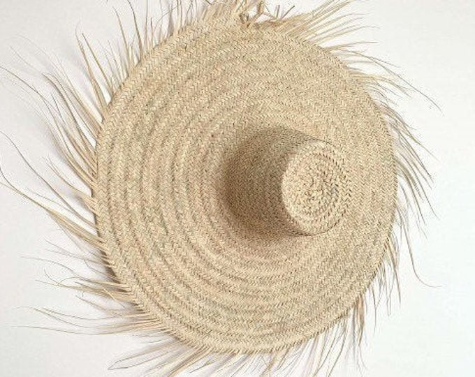 Wall straw hat, 100 cm wall decoration hat