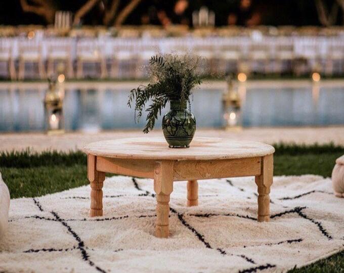 Table basse berbère marocaine en bois