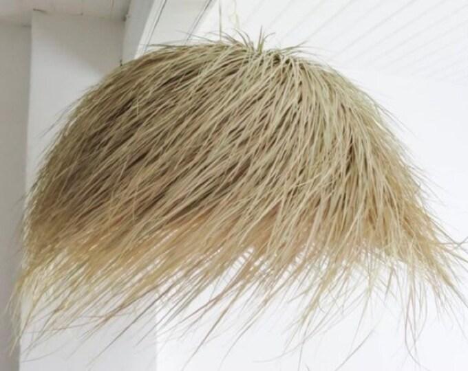 Suspension ball in palm fiber, wicker, straw ball suspension. Straw ball lamp 60cm