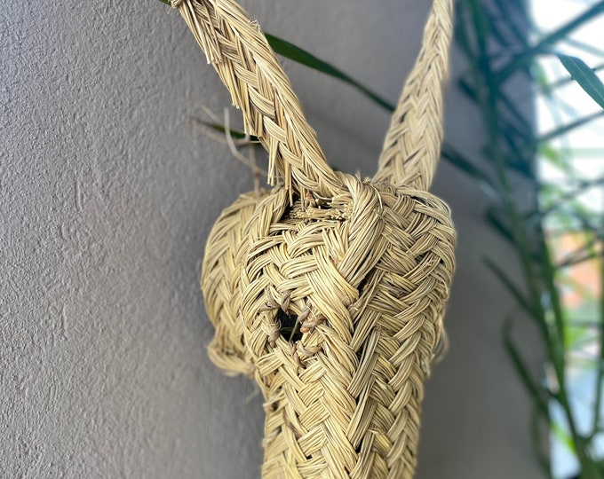 Trophy in straw, sheep's head in straw