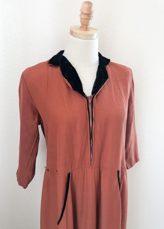 1940's Pink Robe Dress - image 2