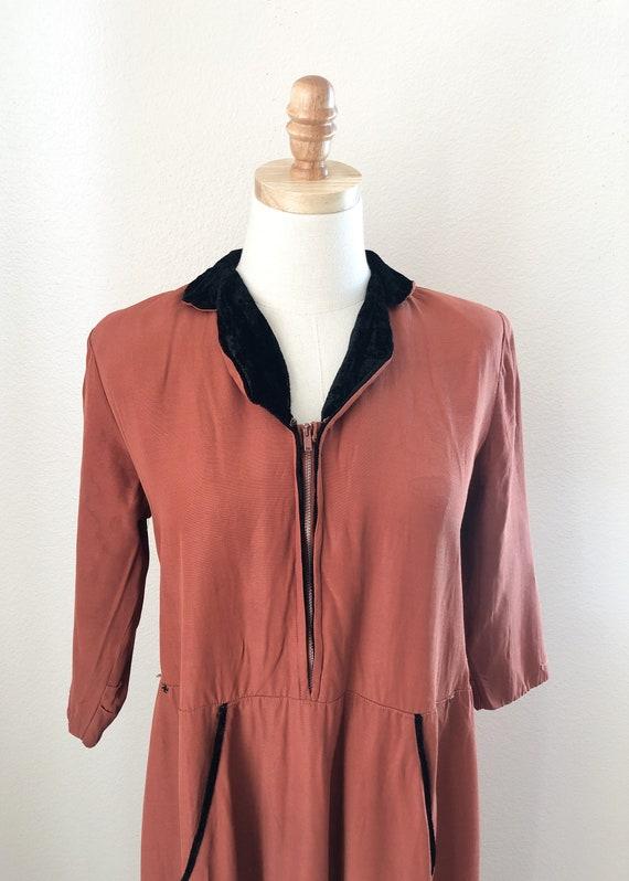 1940's Pink Robe Dress - image 1
