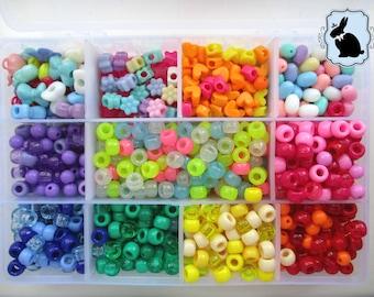 CUSTOM Pastel Rainbow Bracelet || Heart / Star / Flower etc||  Decora / Kawaii / Fairy Kei / Pastel Goth Style