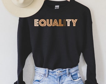 Donner un Mince Sweat-shirt-Unisexe S M L XL Sweater NEUF Equality Rights femm