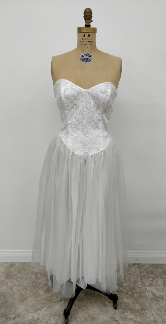 Vintage 1950's Wedding Dress