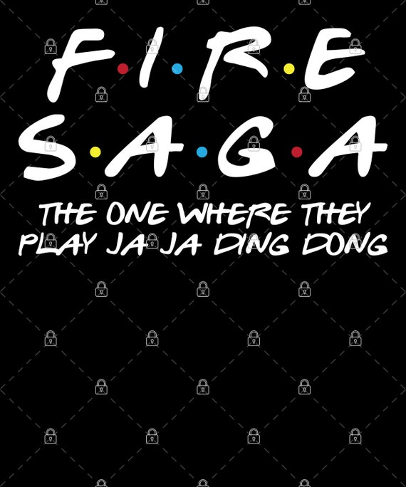 Fire Saga Euro Vision Play Ja Ja Ding Dong Song Contest PNG For Print, Digital download, Sublimation