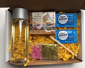 DIY Lava Lamp Kit, Homemade Lava Lamp Kit, Science Kid Kit, Kid Activities, Science Project, Science Experiment, Homeschool, Quarantine Gift
