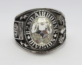 82nd Airborne Division Ring , Sterling Silver 925 , America 39 s Guard Of Honor , Men Ring , Gift , Airborne , All The Way