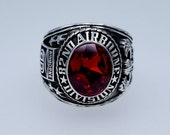 82nd Airborne Division Ring , Sterling Silver 925 , Gift , Military Ring , Airborne