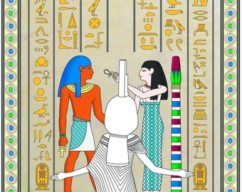 Ancient Egypt coloring book for adults.