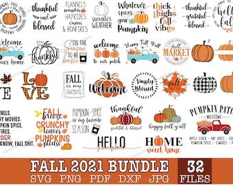 Fall bundle svg   Autumn svg   Thanksgiving svg   Pumpkin svg   Hello fall svg   Svg bundle for cricut, silhouette, sublimation