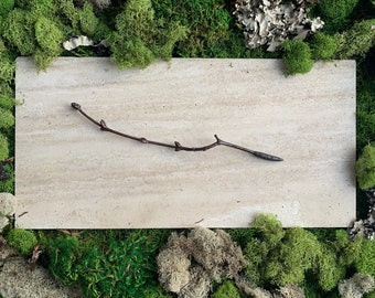 Copper Candle Scribe - Lilac Twig - Electroformed Twig - Witchcraft Tool