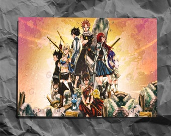 Lucy x Erza #1 Photo Print Fairy Tail Game Art Figure Statue Anime