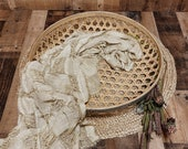 Big Round Rattan Bowl, Newborn Photography Props, Baby Photo Prop, Newborn Prop