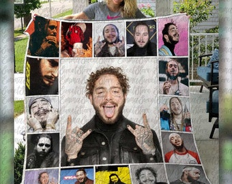 Post Malone Everybody/'s Blind When The View/'s Amazing Sofa Fleece Blanket Gift