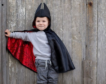 Spiderman batman reversible adventure cape, batman and Spiderman, reversible cape, pretend play dressup, kids dressup Batman cape costume