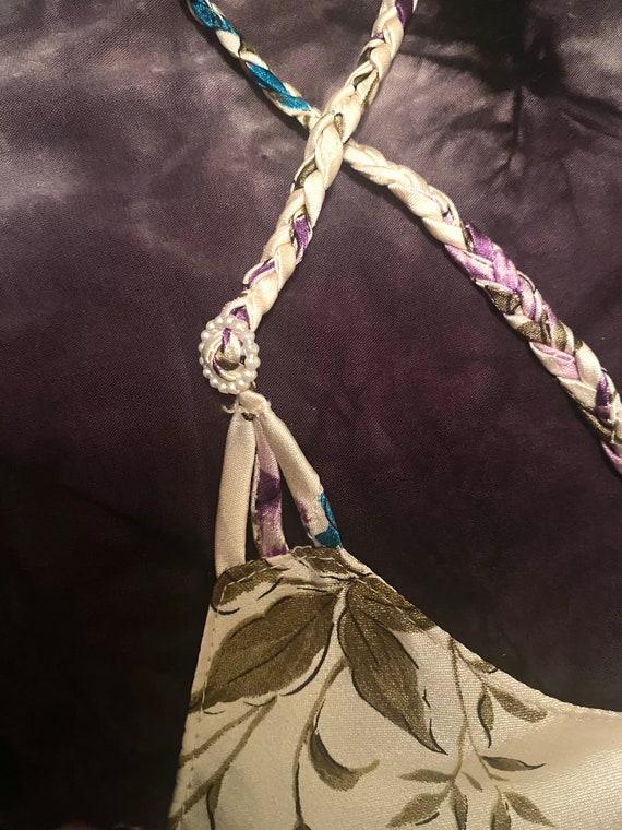 VTG 90s Floral Silky Slip Cami Slip Dress - image 2