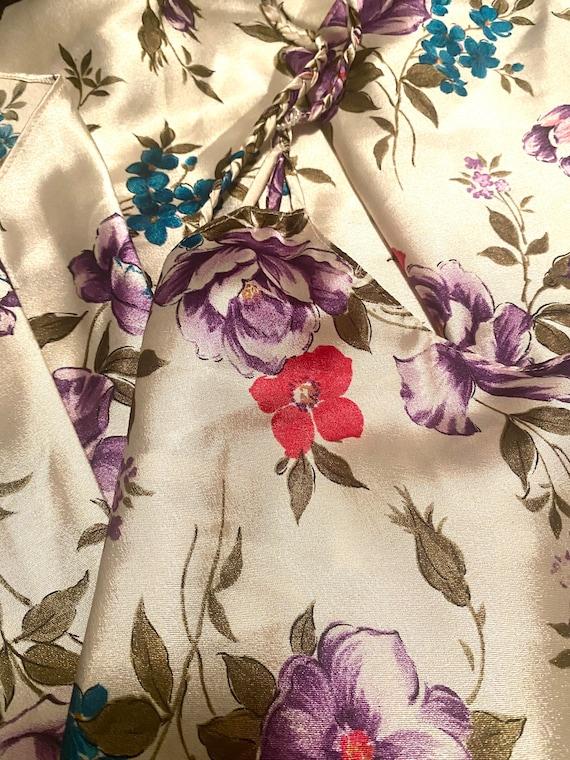 VTG 90s Floral Silky Slip Cami Slip Dress - image 4