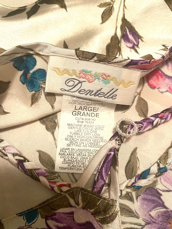 VTG 90s Floral Silky Slip Cami Slip Dress - image 3