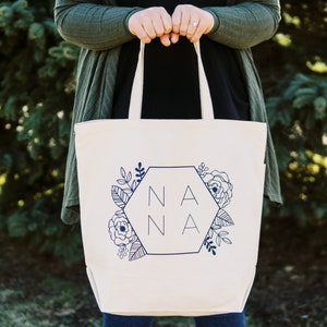 Zippered Canvas Moana Personalized tote bag Heavy tote bag Pockets Carryall Gift