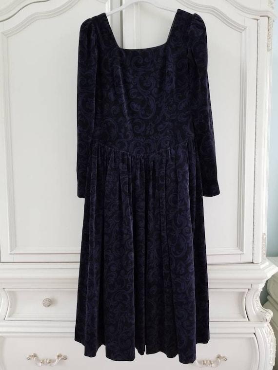 Vintage Laura Ashley Long Sleeve Velveteen Velour