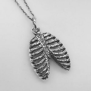 Blood Vessels Necklace in Sterling Silver Veins and Arteries Charm