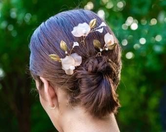 Claire  Wedding Hair Pins- Soft Coral