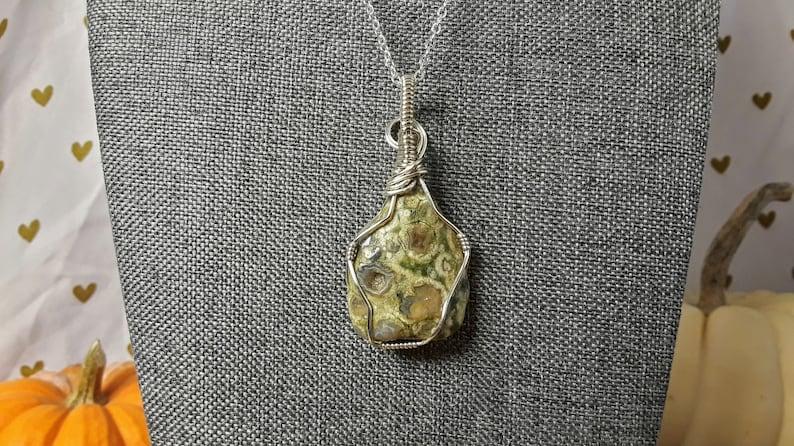 Rainforest Rhyolite in Silver Plating