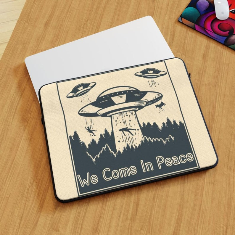 Laptop Skin We Come in Peace