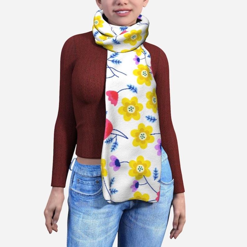Yellow Flowers Blanket Scarf