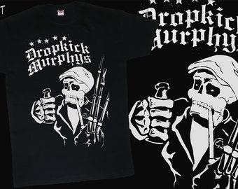 Dropkick Murphys sew on patch band rock merch jacket accessories vintage design style punk,Irish,pub traditional