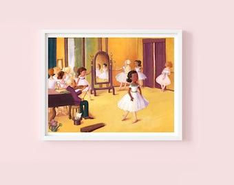 The Dance Class - Children's or Nursery wall art print - Children's decor - Classic art decor - Art history decor