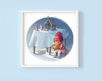 Do Not Touch - Children's or Nursery wall art print - Children's room decor