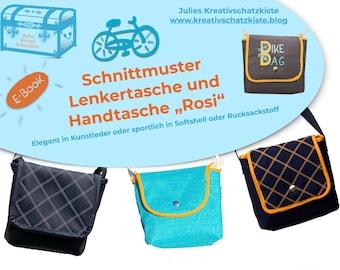 Lenkertasche und Handtasche Rosi - sportlich oder elegant - Nähanleitung und Schnittmuster (ebook), Plotter Freebie