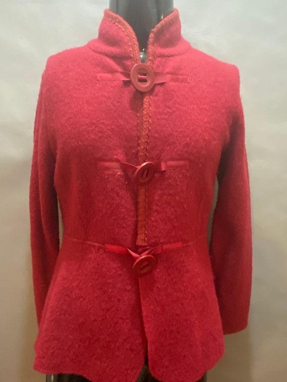 Cynthia Rowley red wool jacket